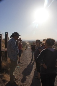 A tour of the wall with Mark Adam's of Frontera de Christo.