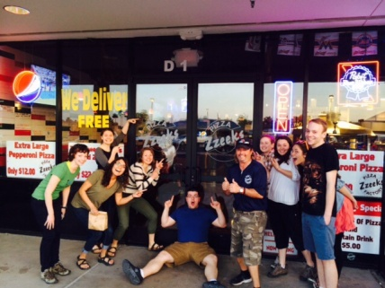 Zeek's Pizza! First stop after arriving in Arizona!