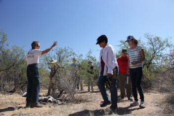 Walking in the desert with Shura of Green Valley Samaritans.
