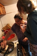 Elena, a volunteer from HEPAC, hosted us for dinner at her house. Chimichanga's, Taco's, Guacamole, Frijoles, Muy Rico!