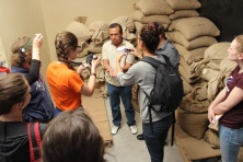 Learning about direct trade coffee at Cafe Justo